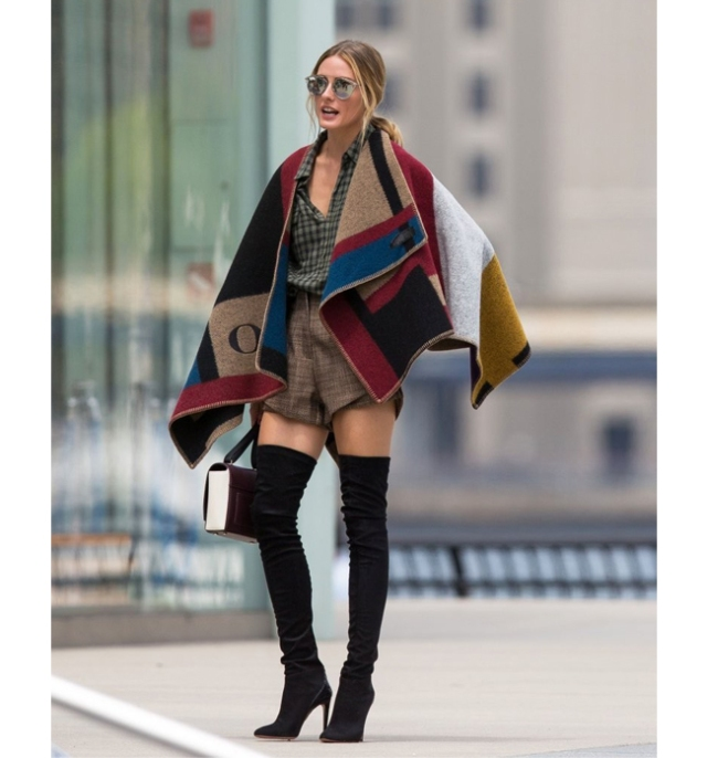 poncho/capa/manta, Olivia Palermo, Burberrys, poncho/cape/blanket, alerta trendy